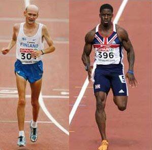 sprinting body
